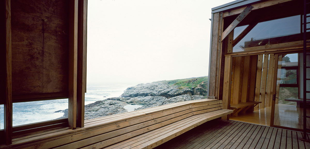 Wood Construction, Beachfront Home in Chile