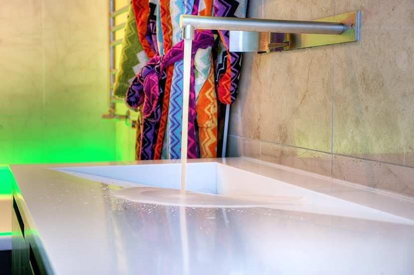 Bathroom Sink, Contemporary Loft Apartment in Stockholm