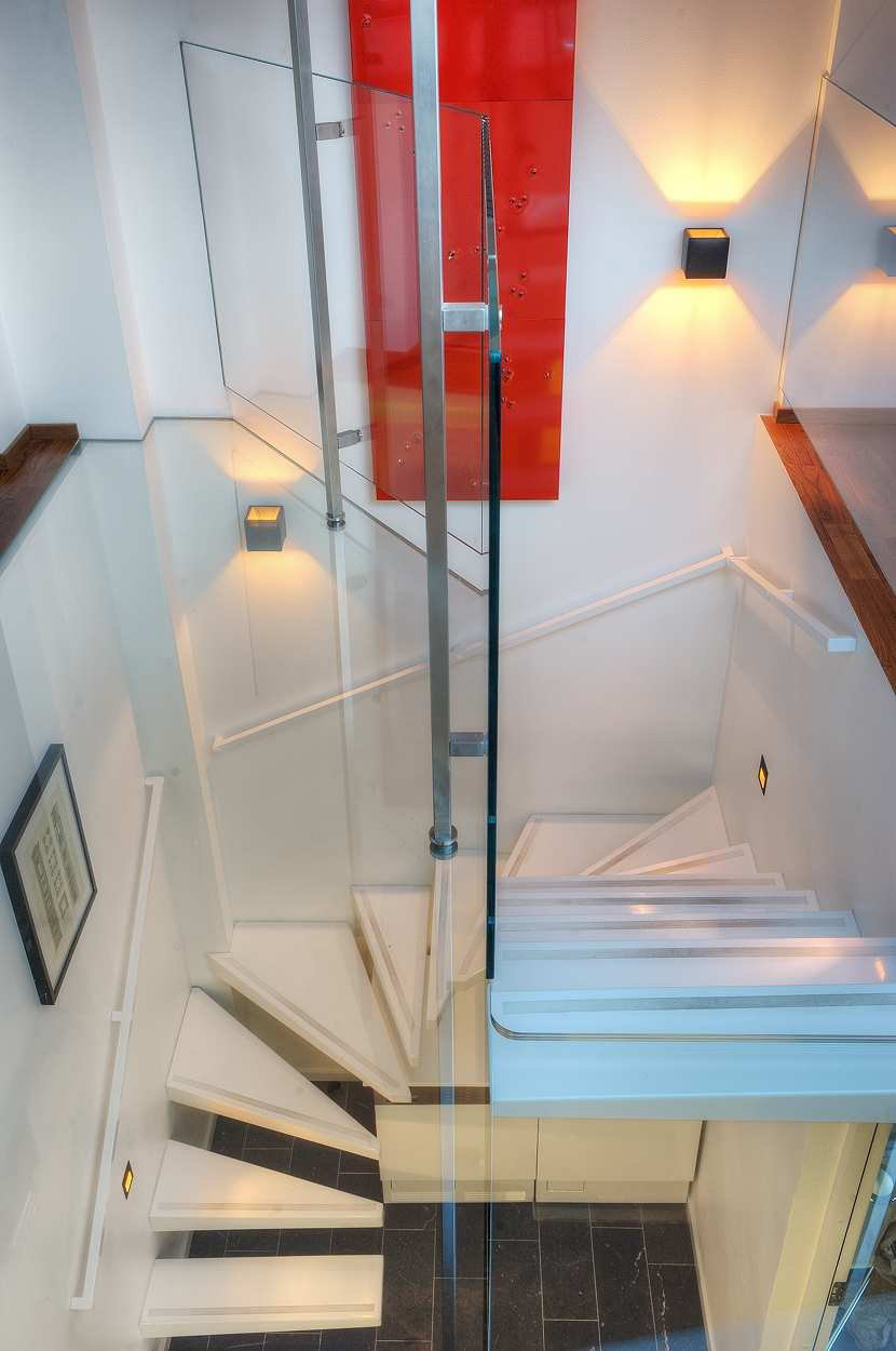 Compact Stairs, Contemporary Loft Apartment in Stockholm