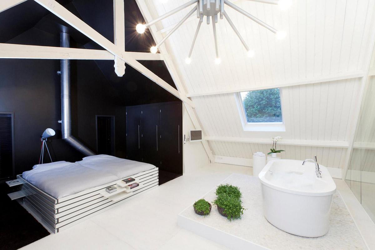 Bedroom, Bathroom, Unique Loft Conversion in The Netherlands