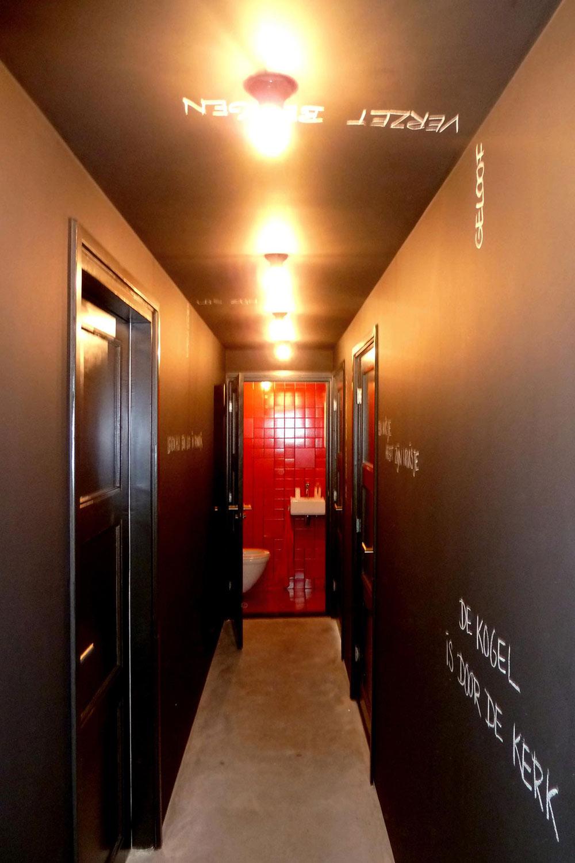 Blackboard Hallway, Unique Loft Conversion in The Netherlands