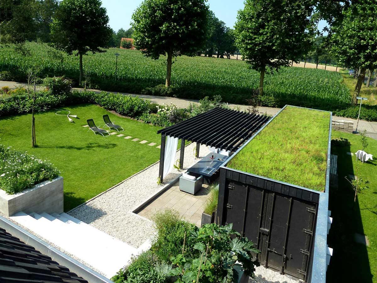 Garden, Pergola, Outdoor Living, Unique Loft Conversion in The Netherlands