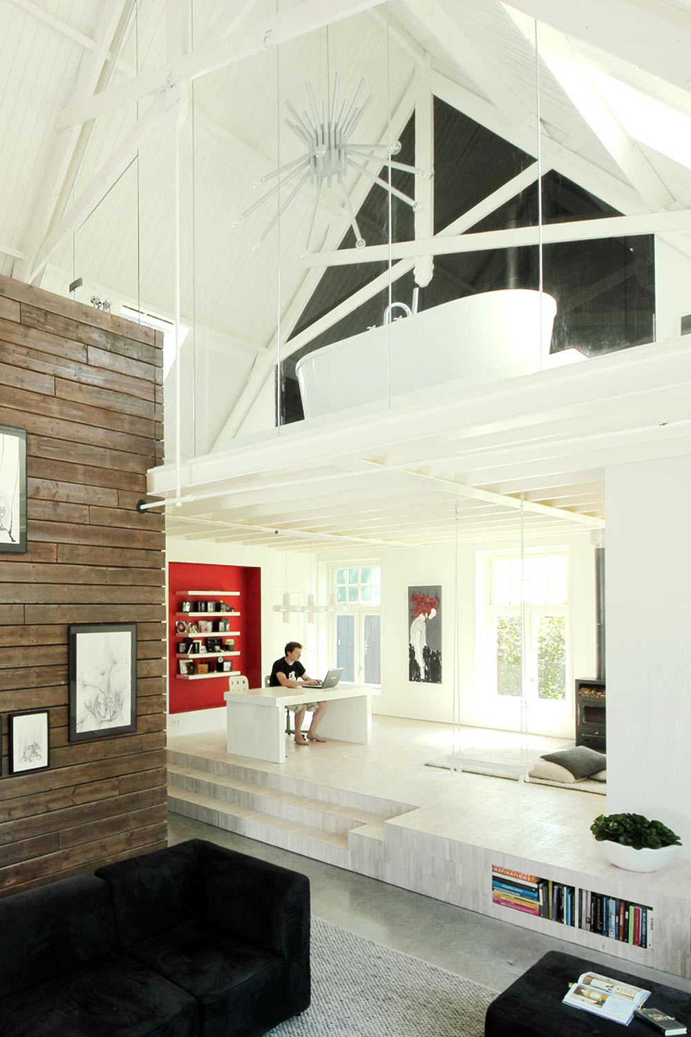 Home Office, Unique Loft Conversion in The Netherlands