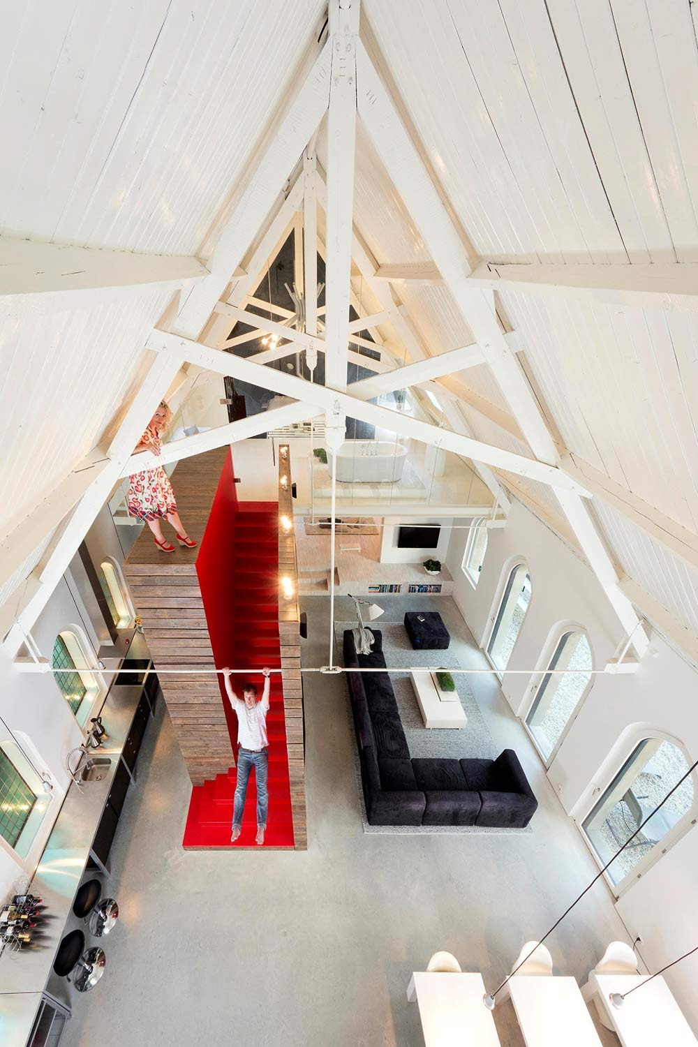 Living Space, Unique Loft Conversion in The Netherlands