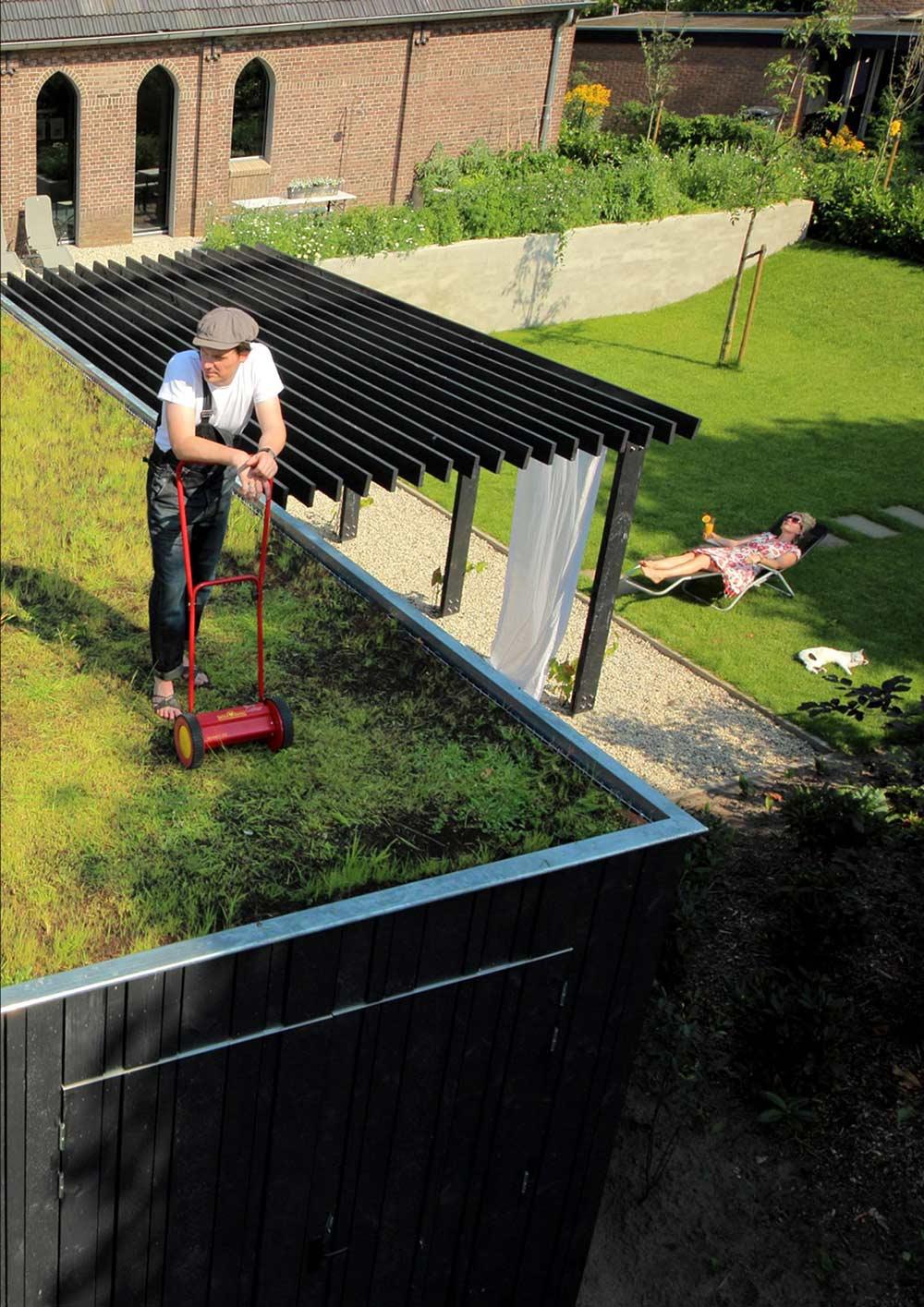 Roof Top Lawn, Pergola, Unique Loft Conversion in The Netherlands