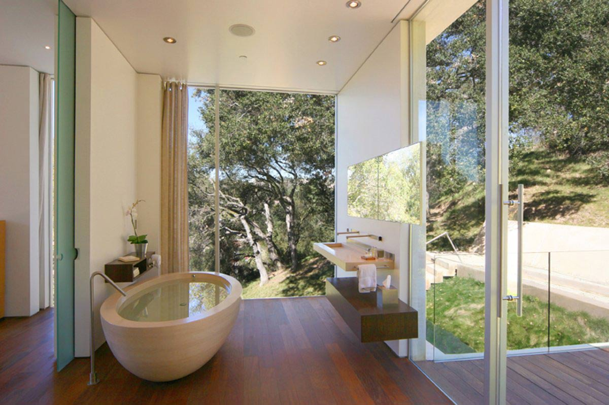 Bathroom, Modern Residence in Beverly Hills