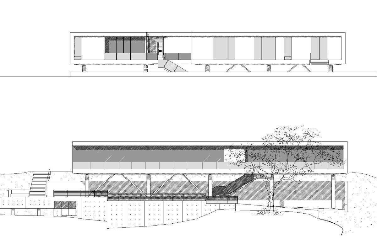 Elevation, Modern Residence in Beverly Hills