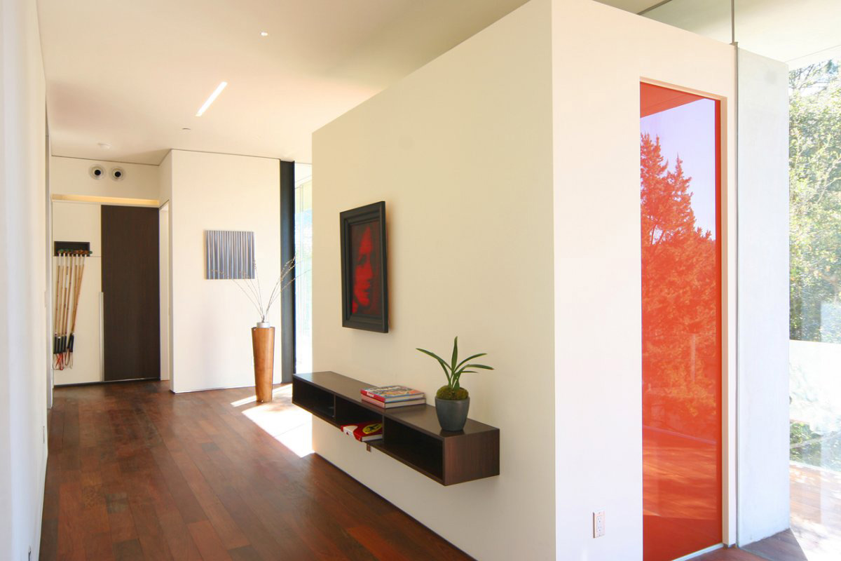 Entrance, Hall, Modern Residence in Beverly Hills