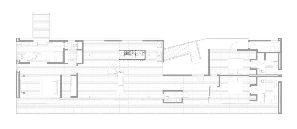 Floor Plan, Modern Residence in Beverly Hills