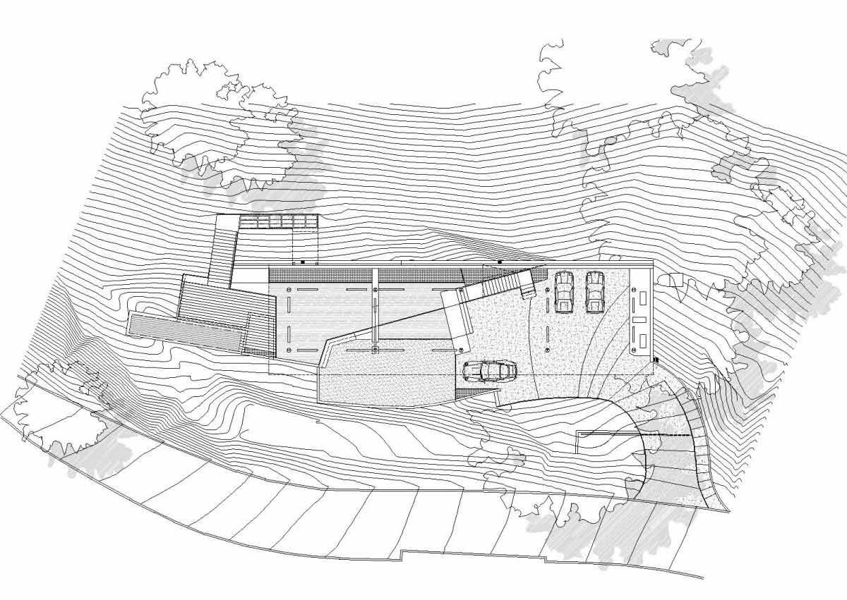 Site plan modern residence in beverly hills