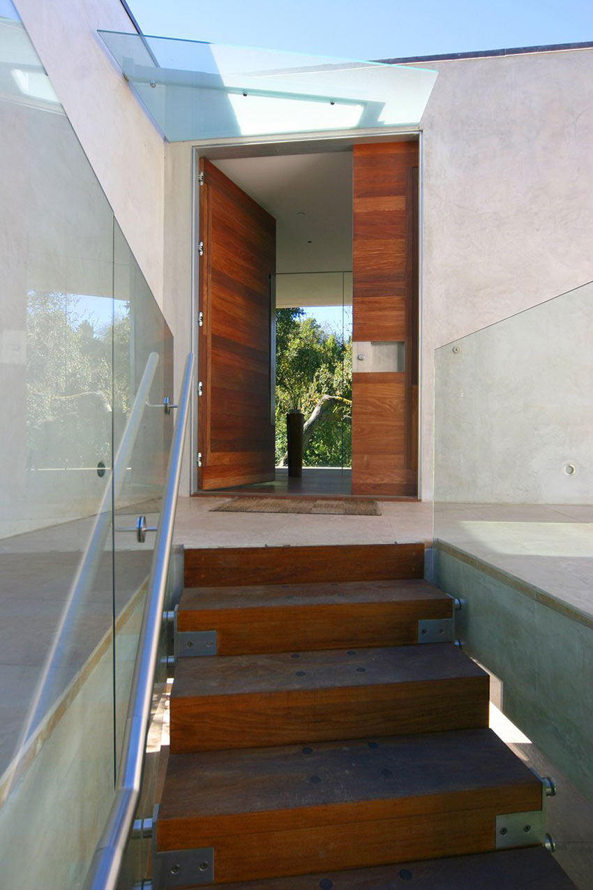 Stairs, Entrance, Modern Residence in Beverly Hills