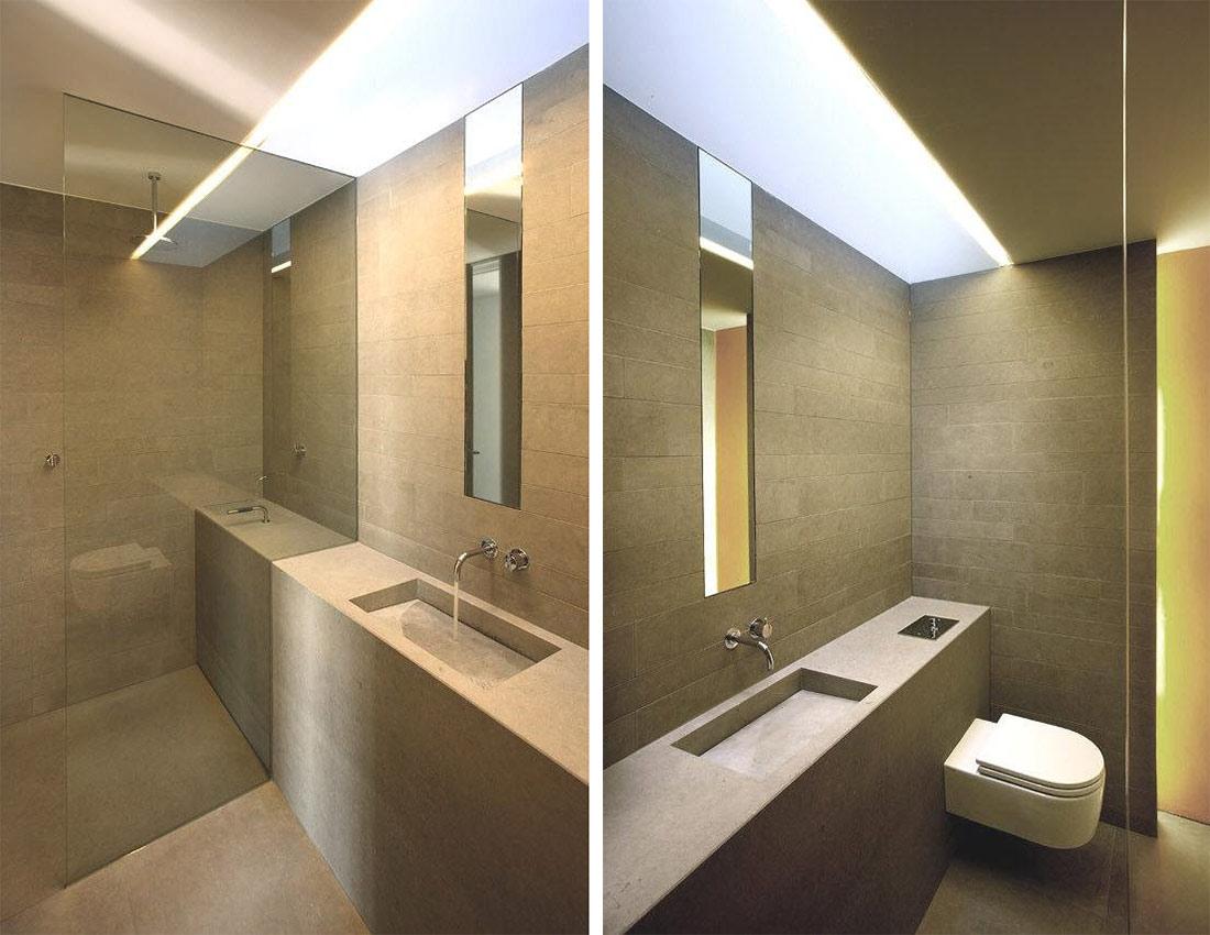 Bathroom, Glass Shower, Möllmann Residence in Bielefeld, Germany