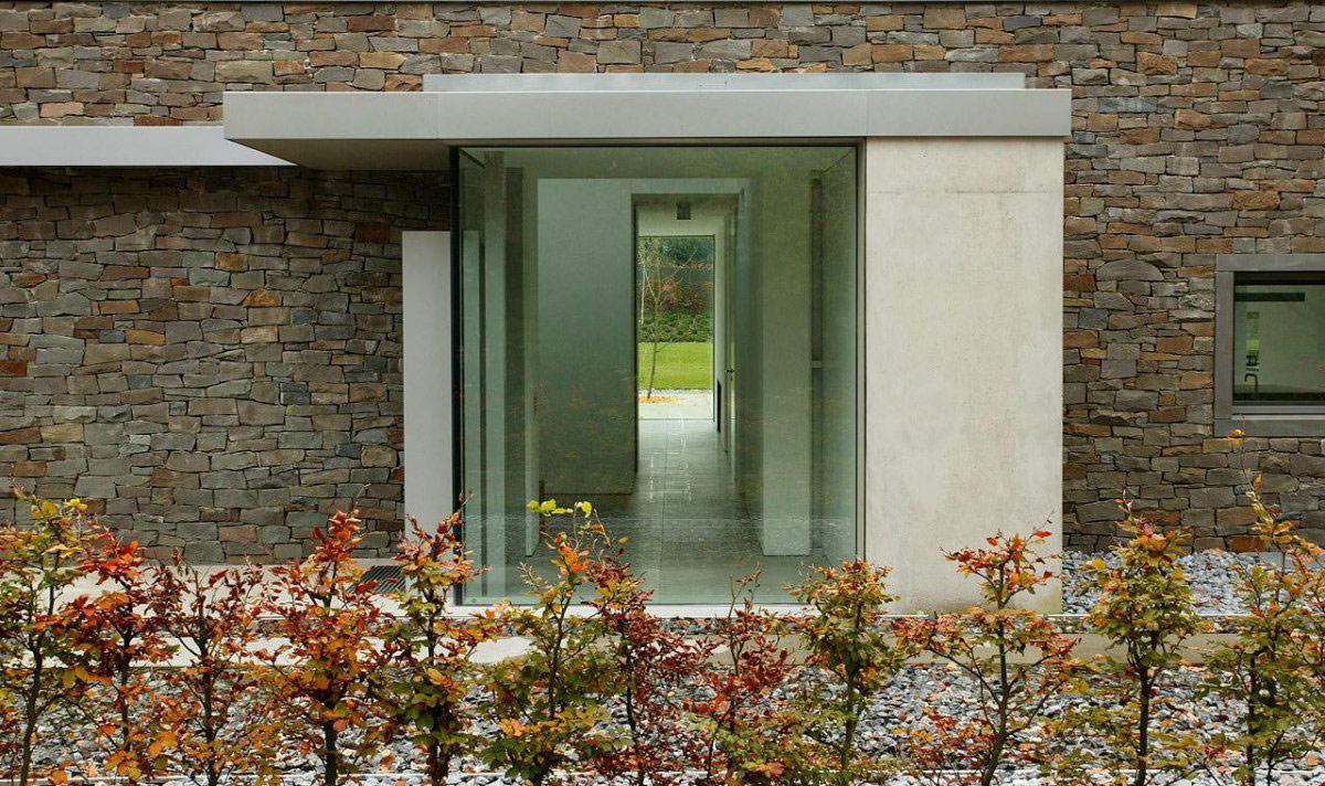 Glass Entrance, Möllmann Residence in Bielefeld, Germany