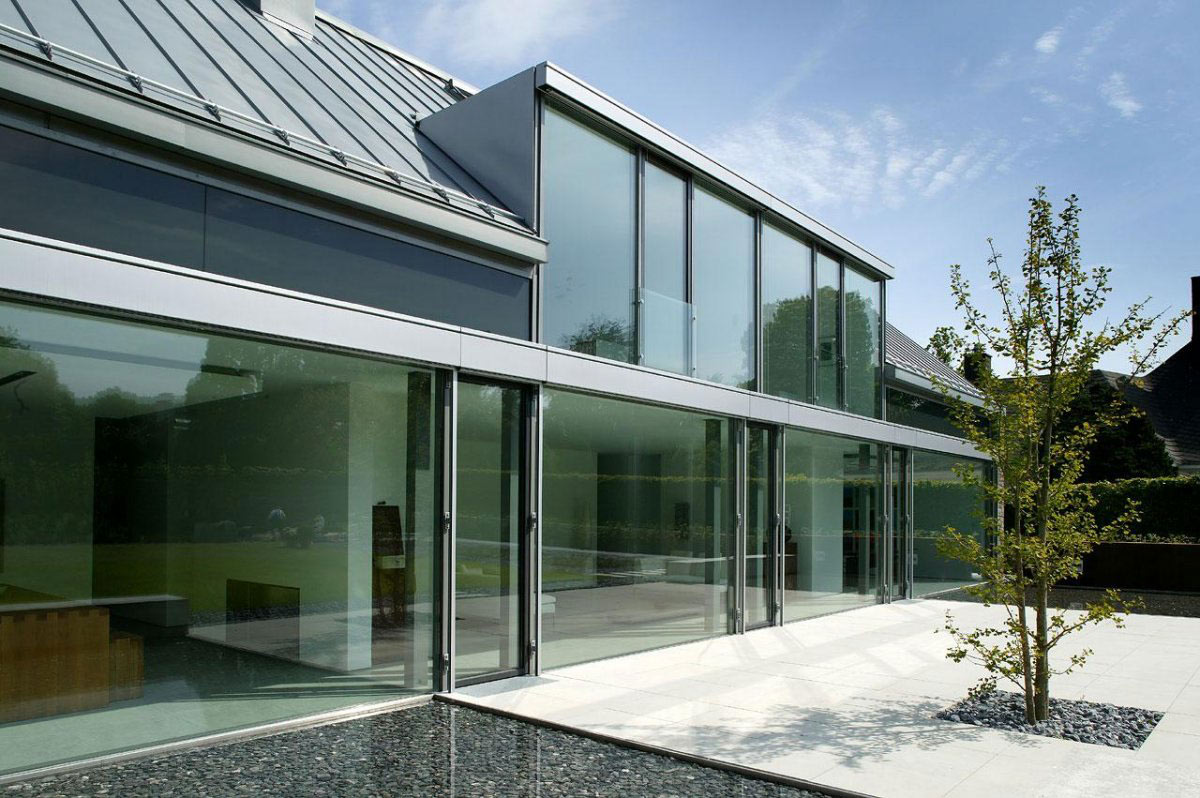 Glass Walls, Terrace, Möllmann Residence in Bielefeld, Germany
