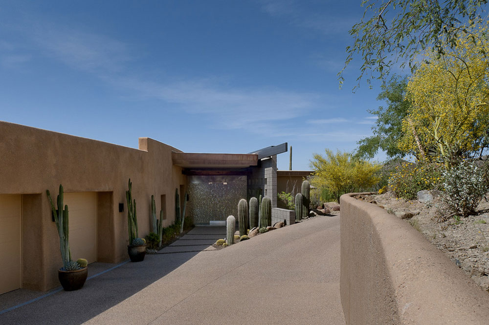 Driveway, Entrance, Modern Home in Scottsdale, Arizona