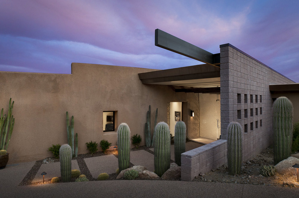 Entrance, Modern Home in Scottsdale, Arizona