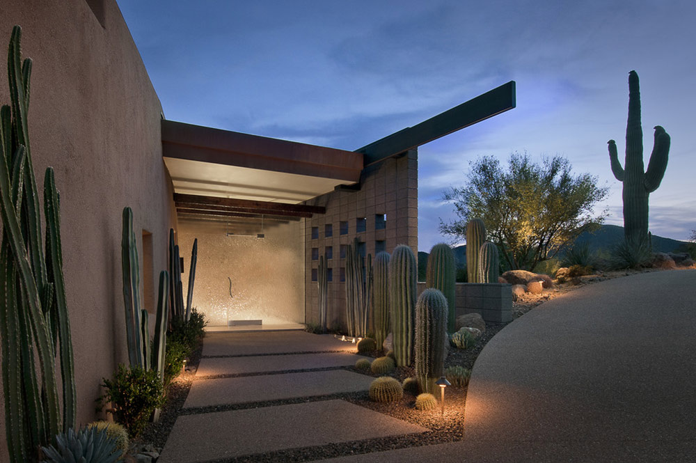 Glass Entrance, Modern Home in Scottsdale, Arizona