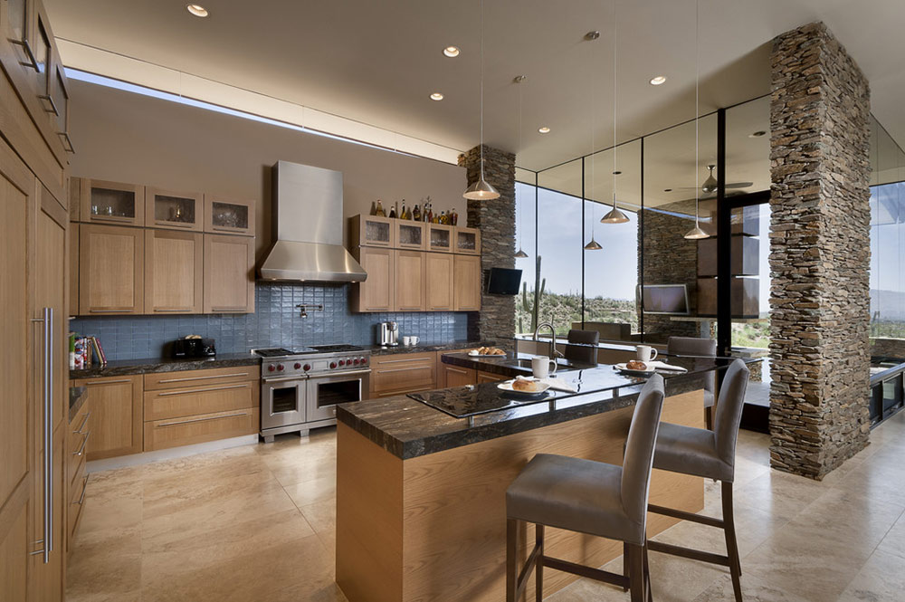 Kitchen Island, Modern Home in Scottsdale, Arizona