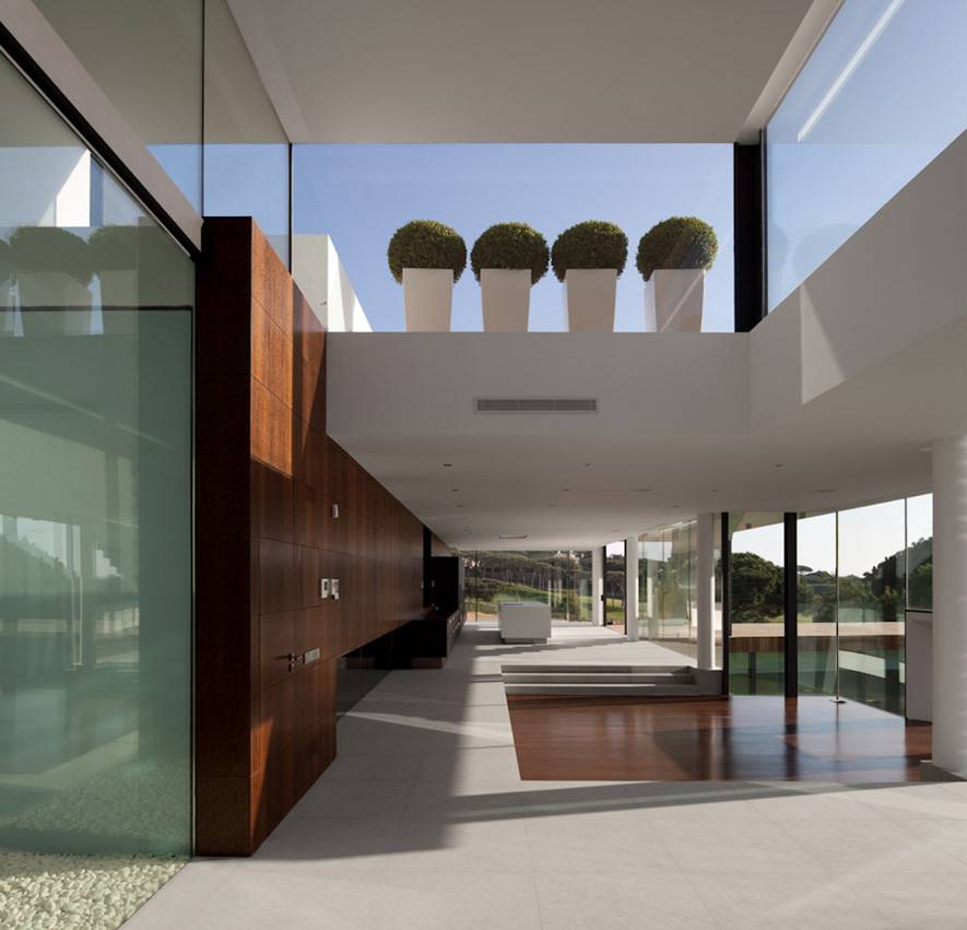 Open Plan, Modern Home with a Unique Suspended Pool in Portugal