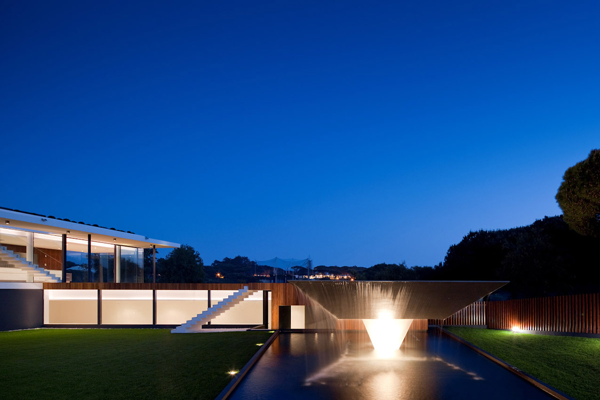 Pool Lights, Modern Home with a Unique Suspended Pool in Portugal