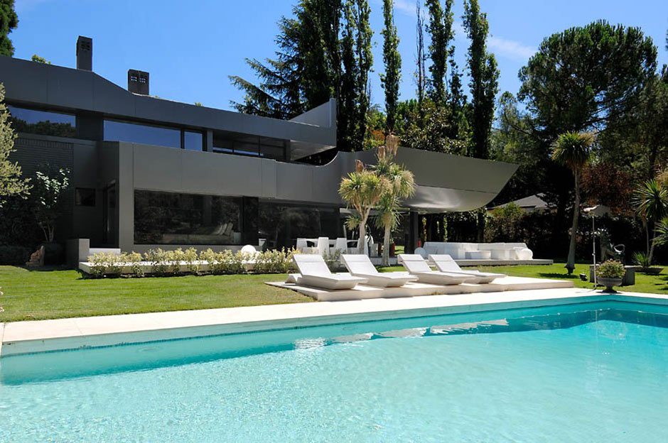 Pool Terrace, Modern Renovation in Madrid, Spain