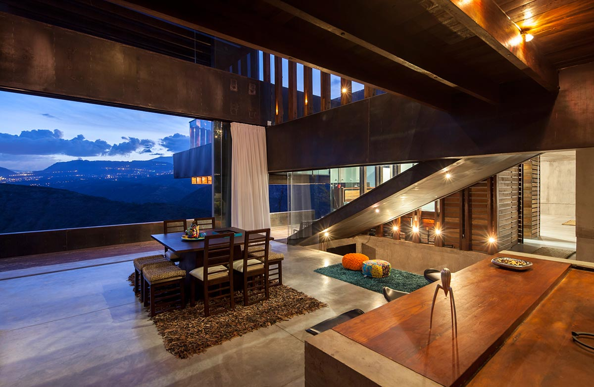 Open Plan Dining, Kitchen, Mountain Home with Incredible Views in Ecuador