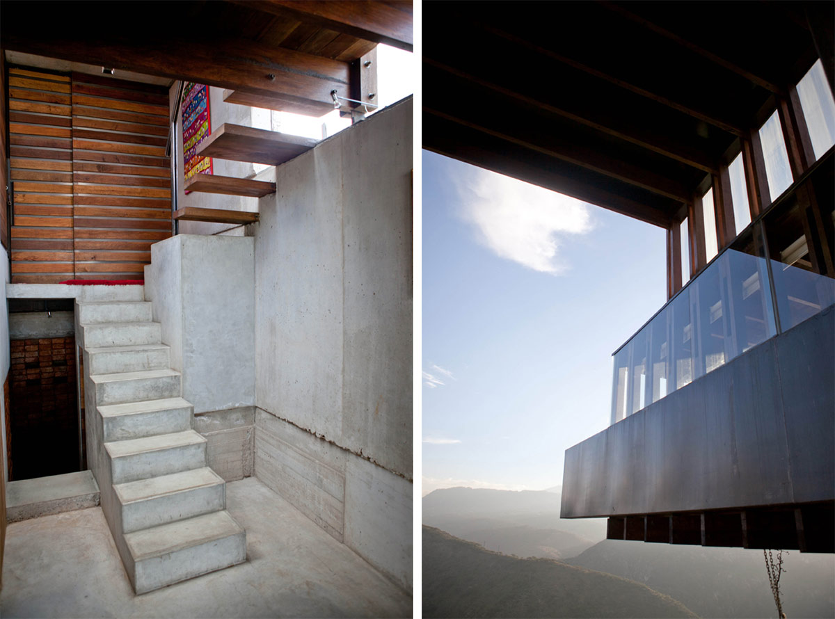 Stairs, Concrete, Wood, Mountain Home with Incredible Views in Ecuador