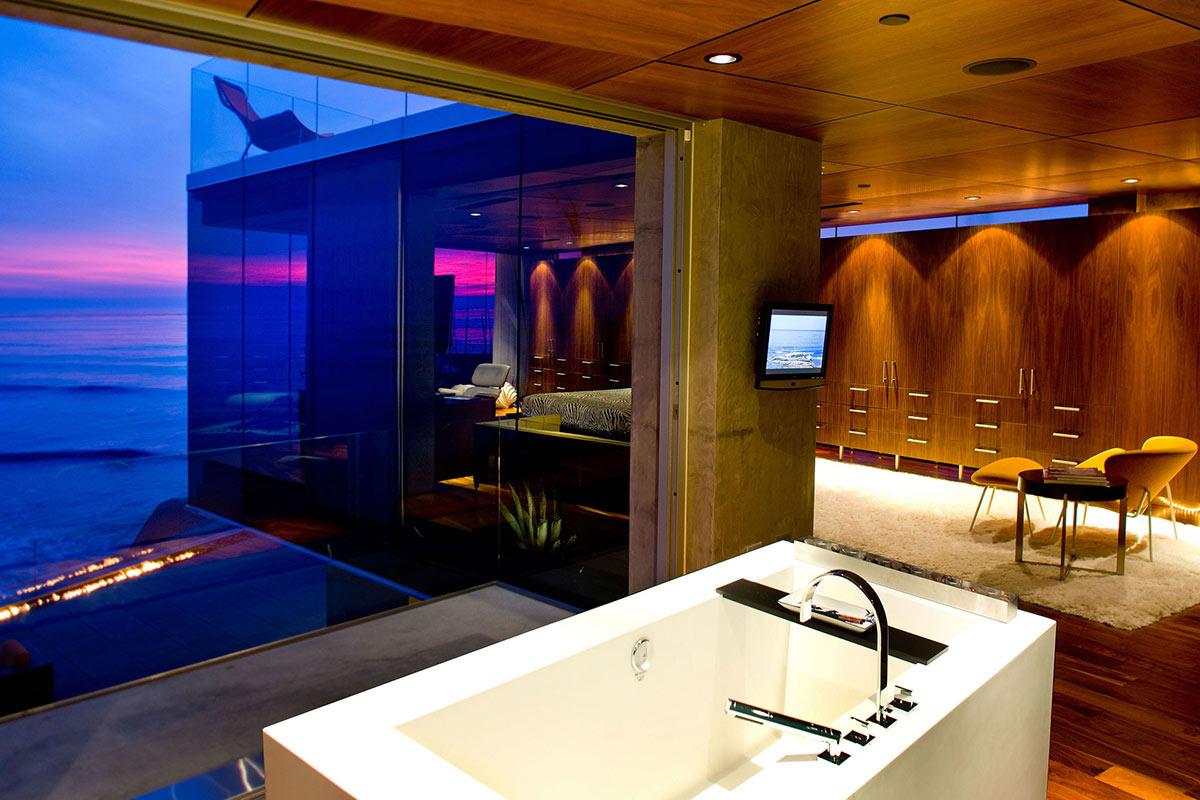 Bathroom, Bedroom Views, Exquisite Ocean Front Residence in La Jolla, California