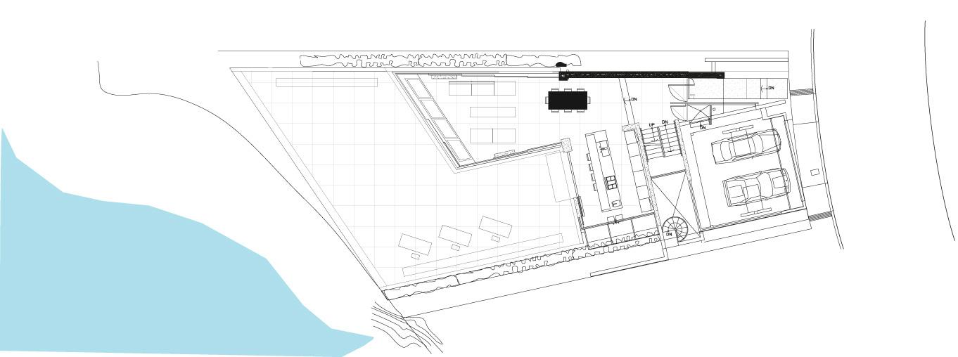 Ground Floor Plan, Exquisite Ocean Front Residence in La Jolla, California
