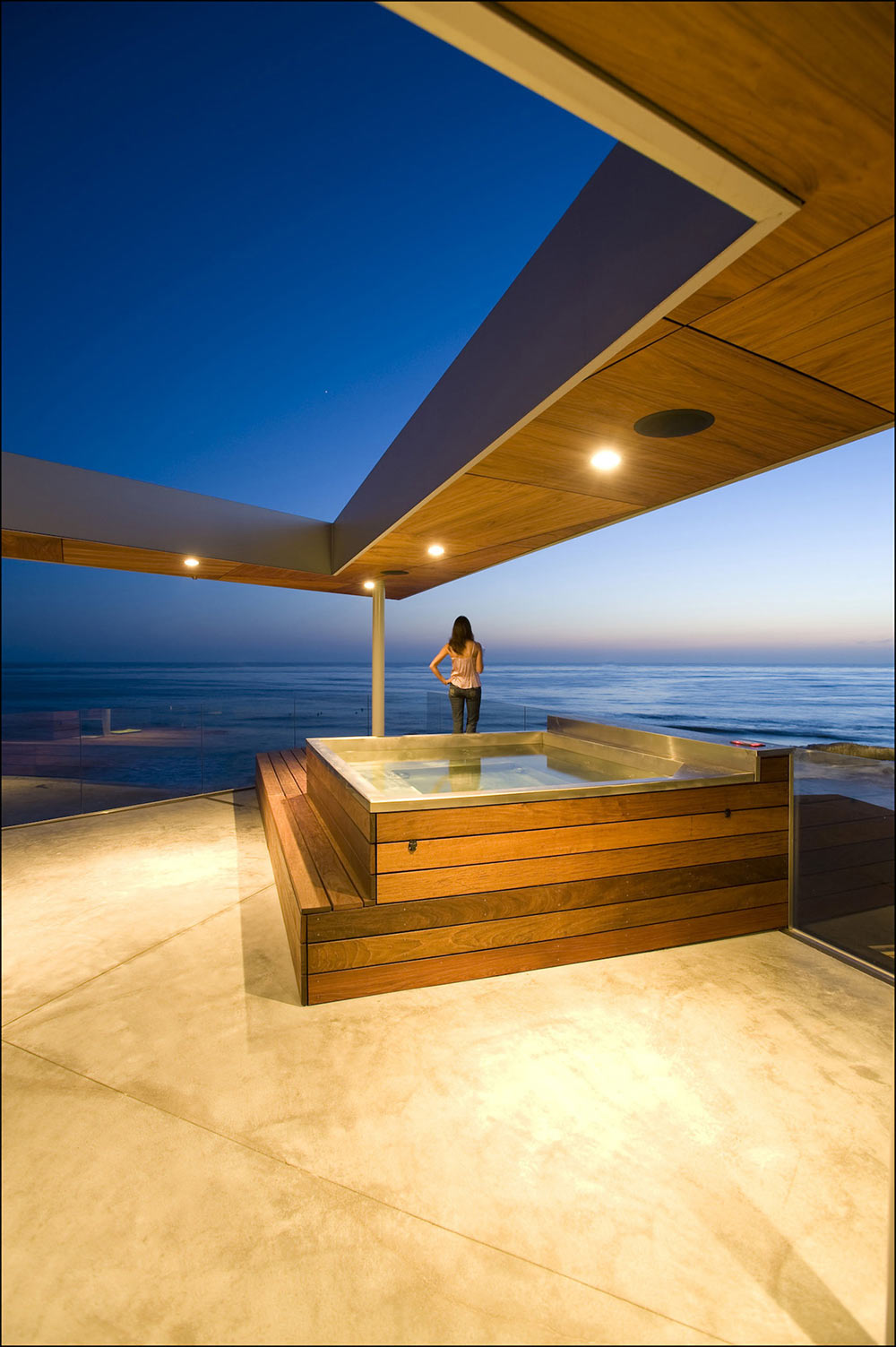 Jacuzzi, Glass Fence, Exquisite Ocean Front Residence in La Jolla, California
