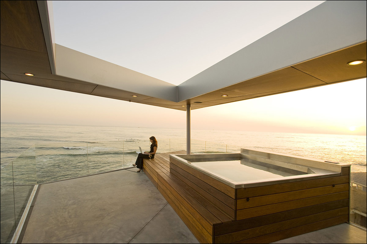 Jacuzzi Terrace Glass Fence Exquisite Ocean Front Residence In La Jolla California Fresh