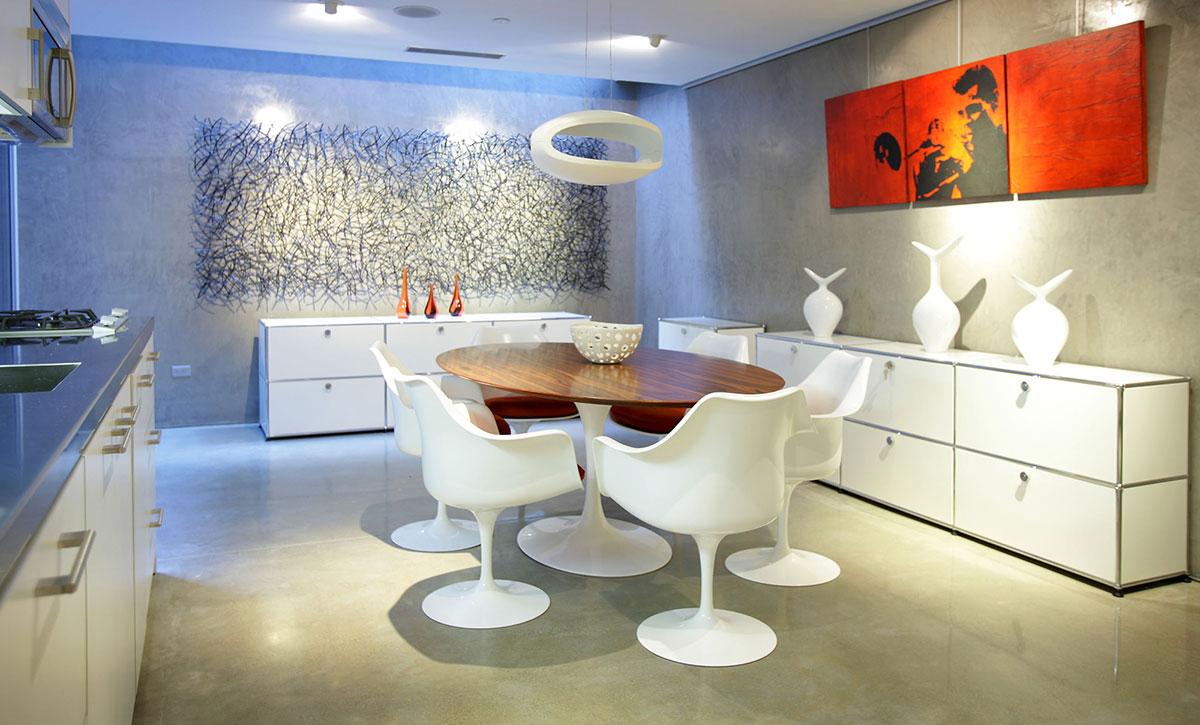 Kitchen, Breakfast Table, Exquisite Ocean Front Residence in La Jolla, California