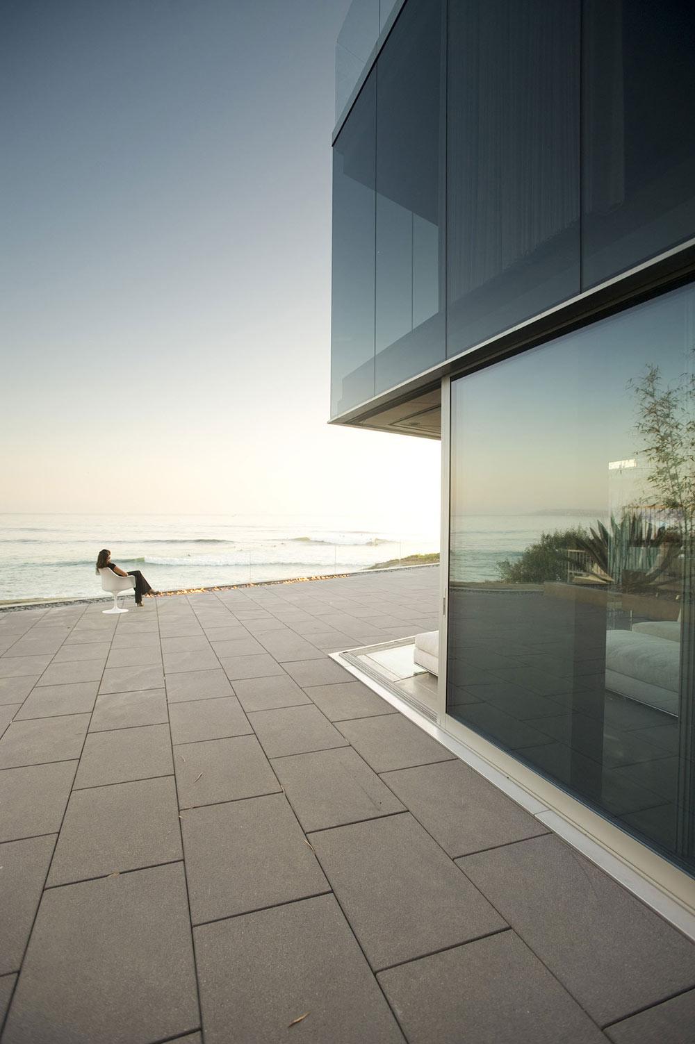 Terrace, Patio Doors, Exquisite Ocean Front Residence in La Jolla, California