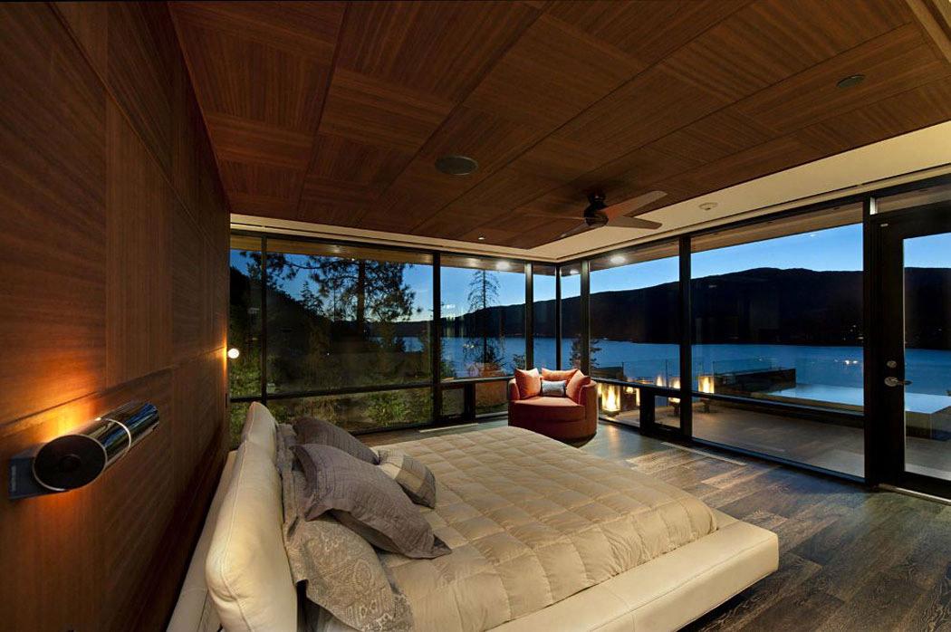 Bedroom, Lake Views, Exceptional Hillside Home Overlooking Okanagan Lake, Canada