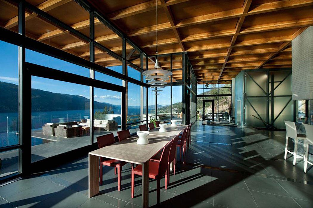 Dining Table, Exceptional Hillside Home Overlooking Okanagan Lake, Canada