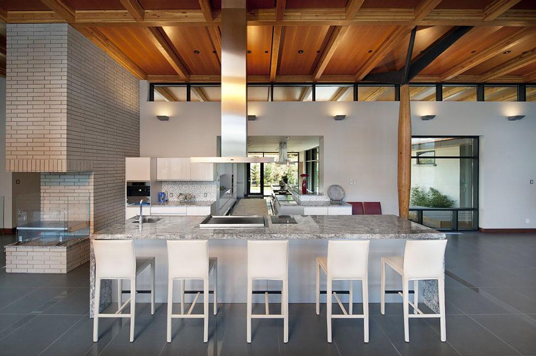 Kitchen, Marble Island, Exceptional Hillside Home Overlooking Okanagan Lake, Canada