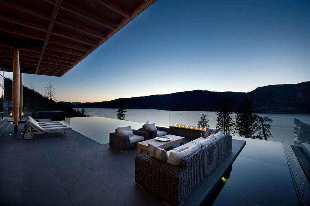Lake Views, Deck, Pool, Exceptional Hillside Home Overlooking Okanagan Lake, Canada