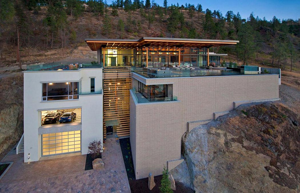 Exceptional Hillside Home Overlooking Okanagan Lake, Canada