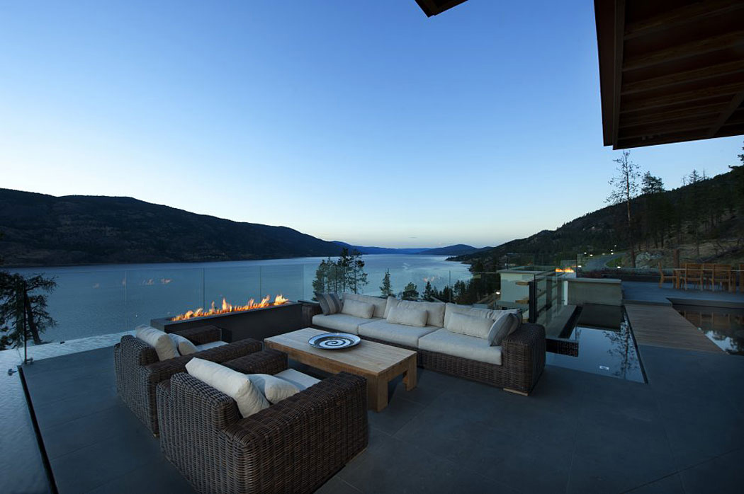 Outdoor Sofa, Exceptional Hillside Home Overlooking Okanagan Lake, Canada