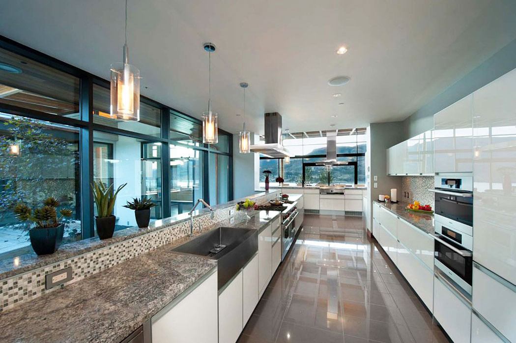 Modern Kitchen, Exceptional Hillside Home Overlooking Okanagan Lake, Canada