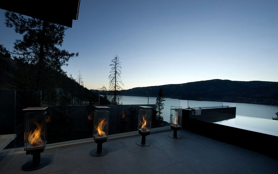 Outdoor Lighting, Lanterns, Exceptional Hillside Home Overlooking Okanagan Lake, Canada