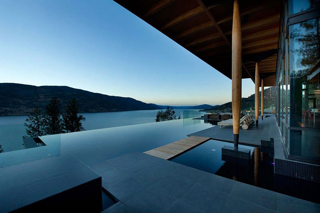 Infinity Pool, Terrace, Exceptional Hillside Home Overlooking Okanagan Lake, Canada