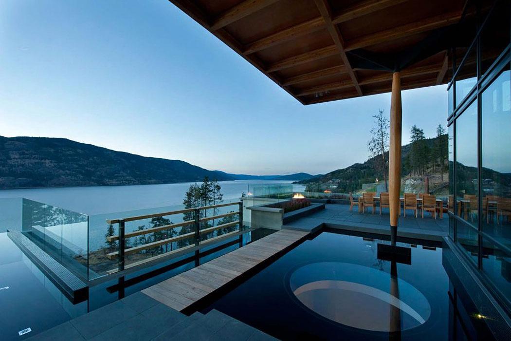 Water Feature, Views, Exceptional Hillside Home Overlooking Okanagan Lake, Canada