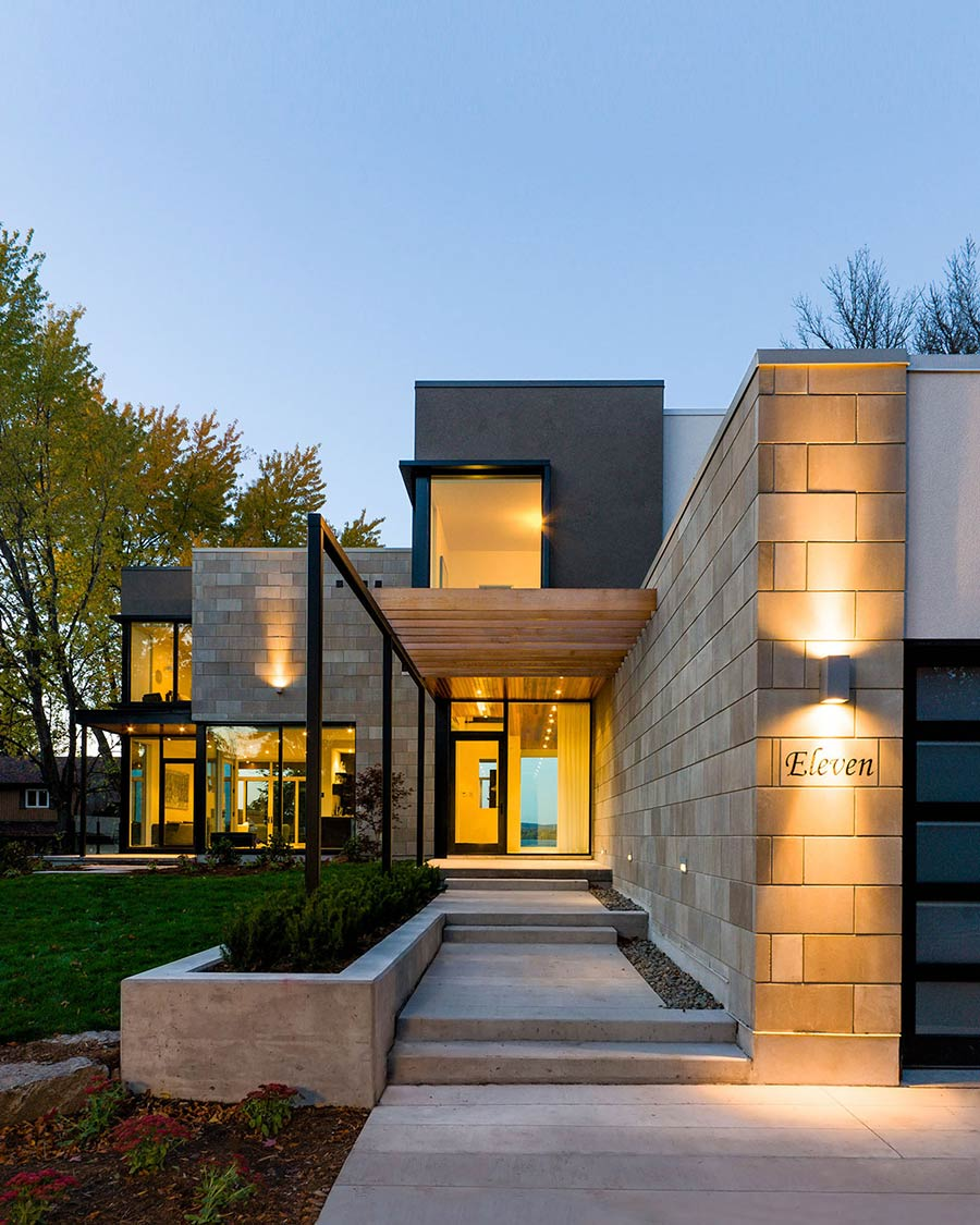 Entrance, Riverside Home in Ottawa, Canada