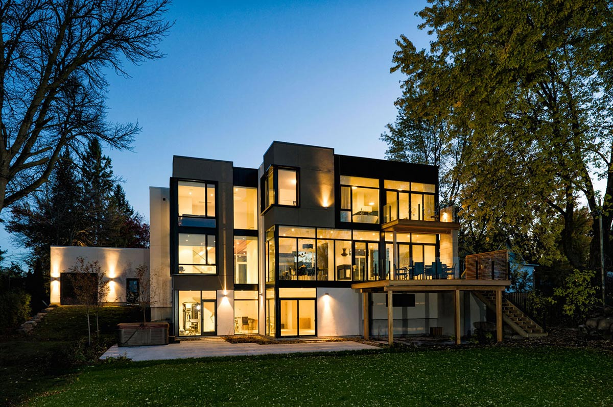 Riverside home in ottawa canada for Architecture originale maison