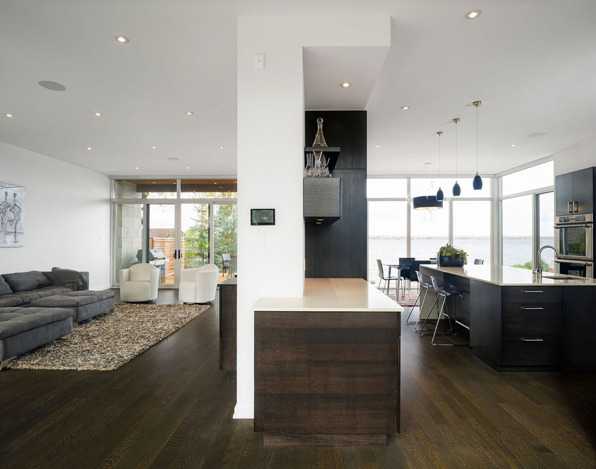 Living Space, Kitchen, Riverside Home in Ottawa, Canada