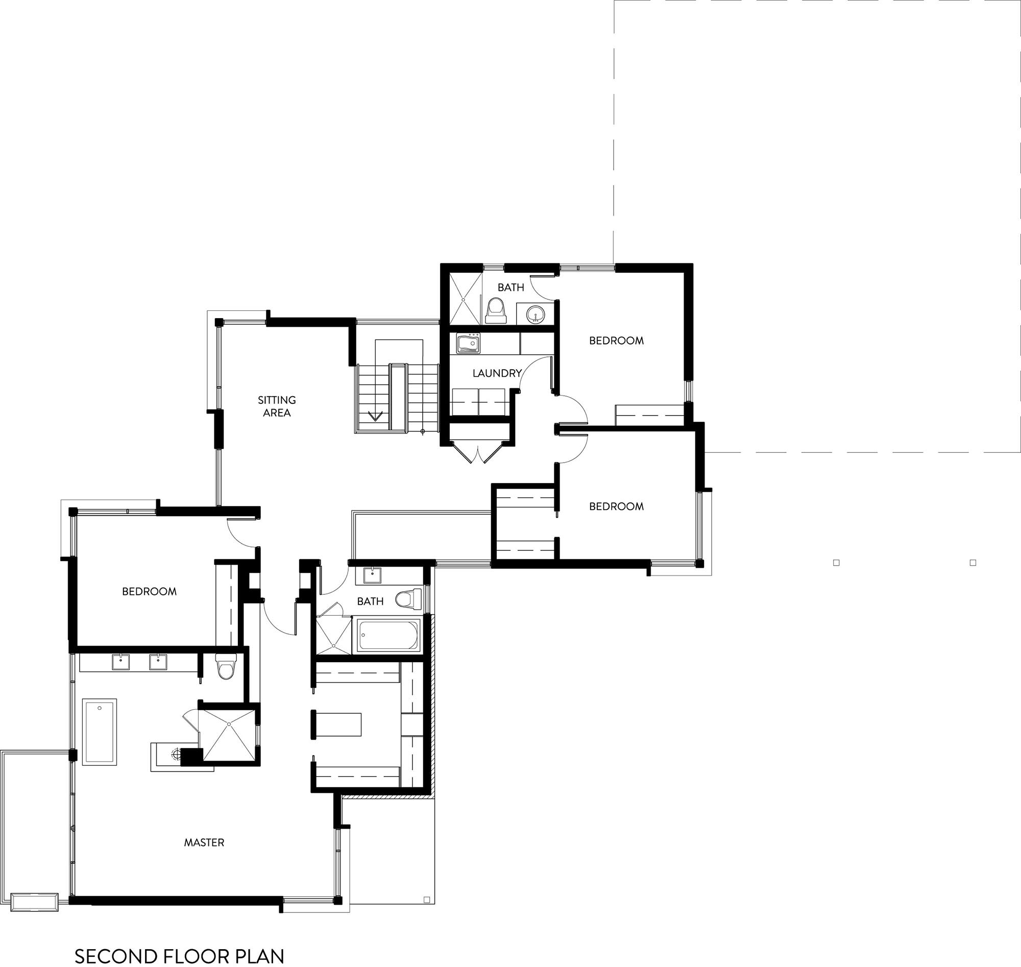 Second Floor Plan, Riverside Home in Ottawa, Canada