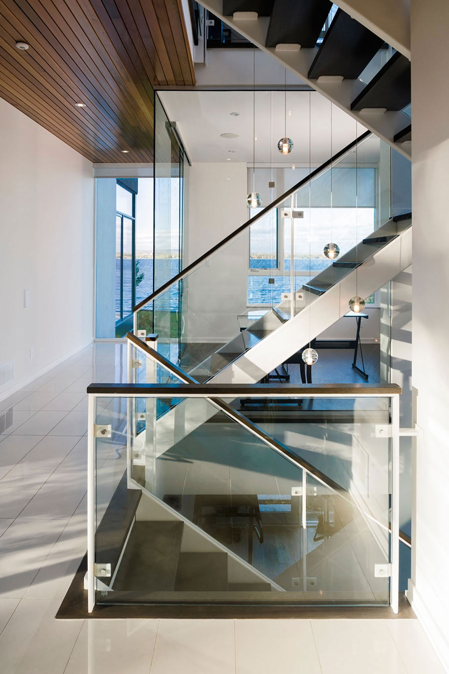 Stairs, Riverside Home in Ottawa, Canada
