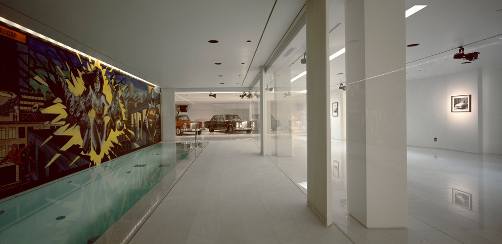 Indoor Pool, Comic Wallpaper, Psychiko House, Athens by Divercity Architects