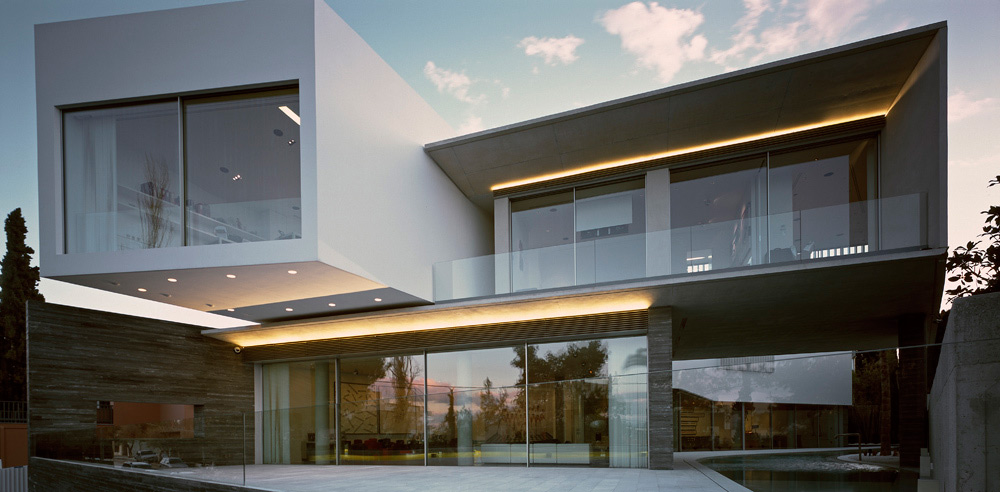 Terrace, Glass Walls, Psychiko House, Athens by Divercity Architects